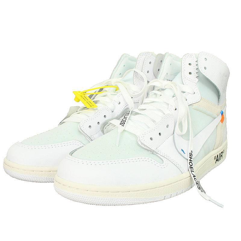 promo code 72edd 11eff Nike off-white /NIKE OFF-WHITE Air Jordan 1 sneakers (29cm/ white)  bb24#rinkan*S