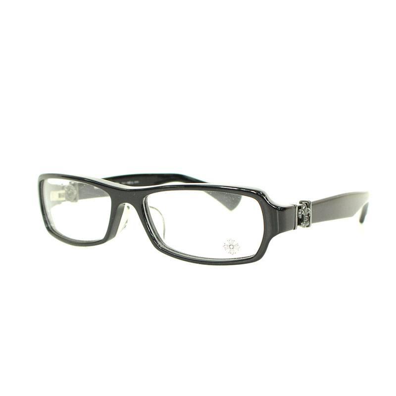 クロムハーツ/Chrome Hearts 【GITTIN ANY?-II】BSフレアテンプルウェリントン眼鏡(ブラック)【NO05】【小物】【101091】【中古】bb51#rinkan*B