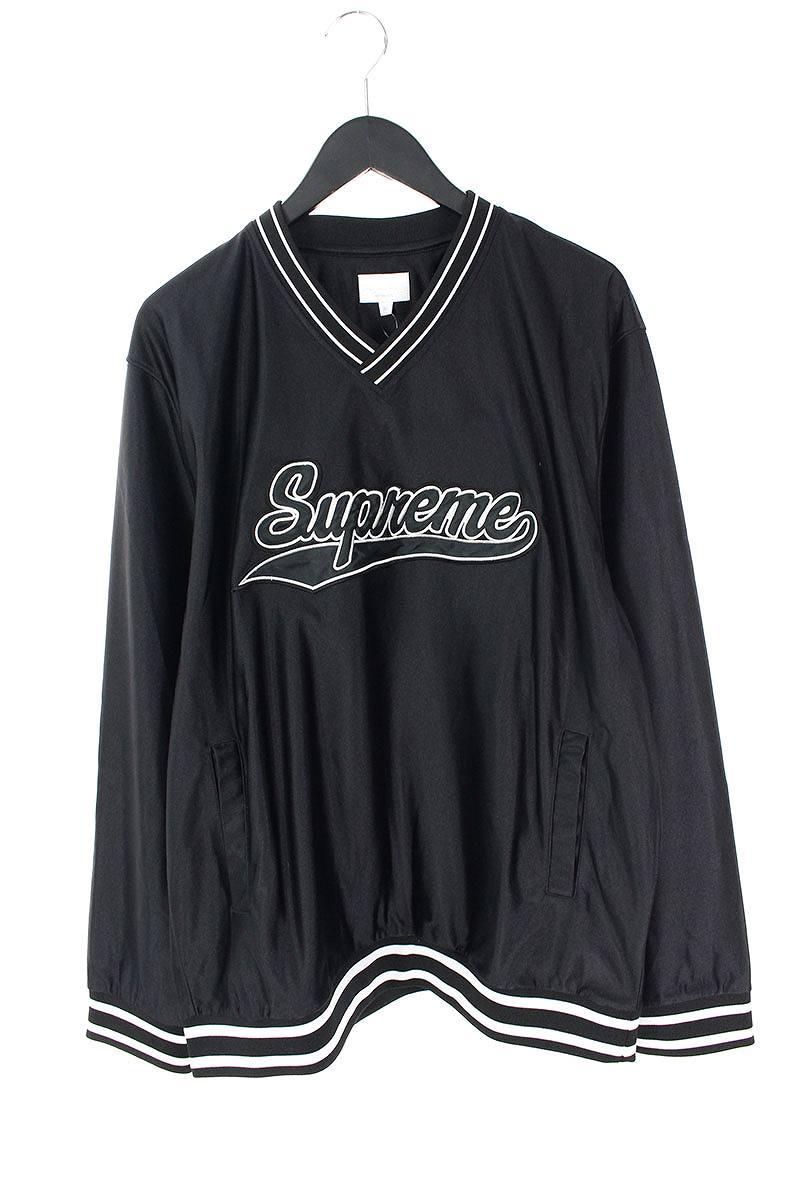 シュプリーム/SUPREME 【16AW】【Baseball Warm Up Top】スクリプトロゴウォームアップ長袖カットソー(XL/ブラック)【SJ02】【メンズ】【622181】【中古】bb154#rinkan*A