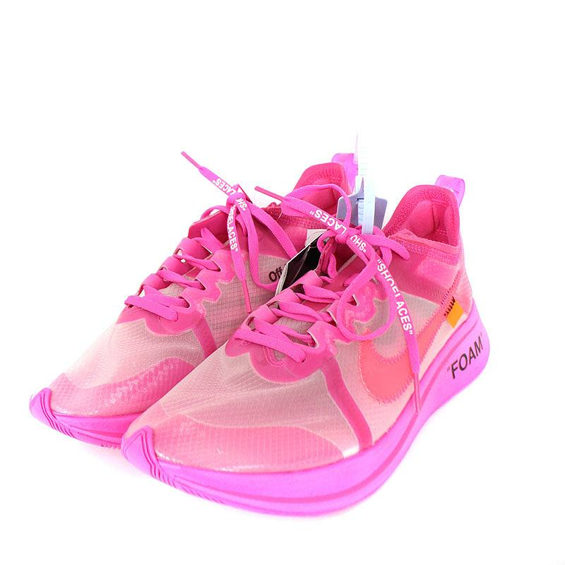 Rinkan Nike Off White Nike Off White Zoom Fly Sneakers 27cm Pink
