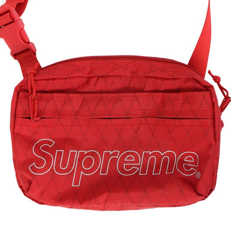 シュプリーム/SUPREME 【18AW】【Shoulder Bag】ボックスロゴナイロンショルダーバッグ(レッド)【NO05】【小物】【111091】【中古】bb147#rinkan*B