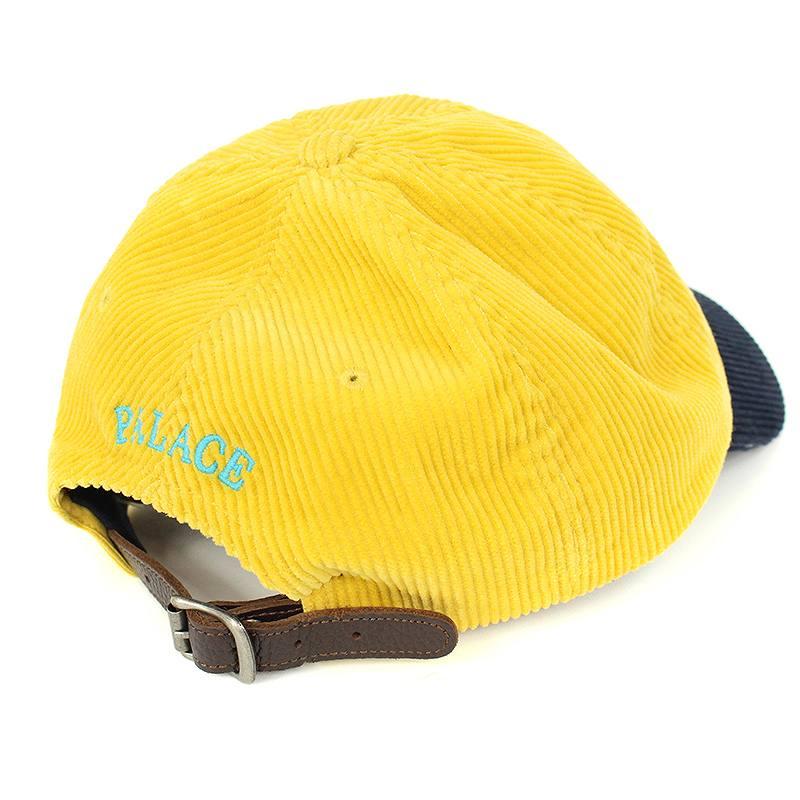 1278c812fe6ea Palace  Palace X polo Ralph Lauren  Polo Ralph Lauren logo embroidery corduroy  cap (ONE SIZE  yellow X navy) bb131 rinkan B