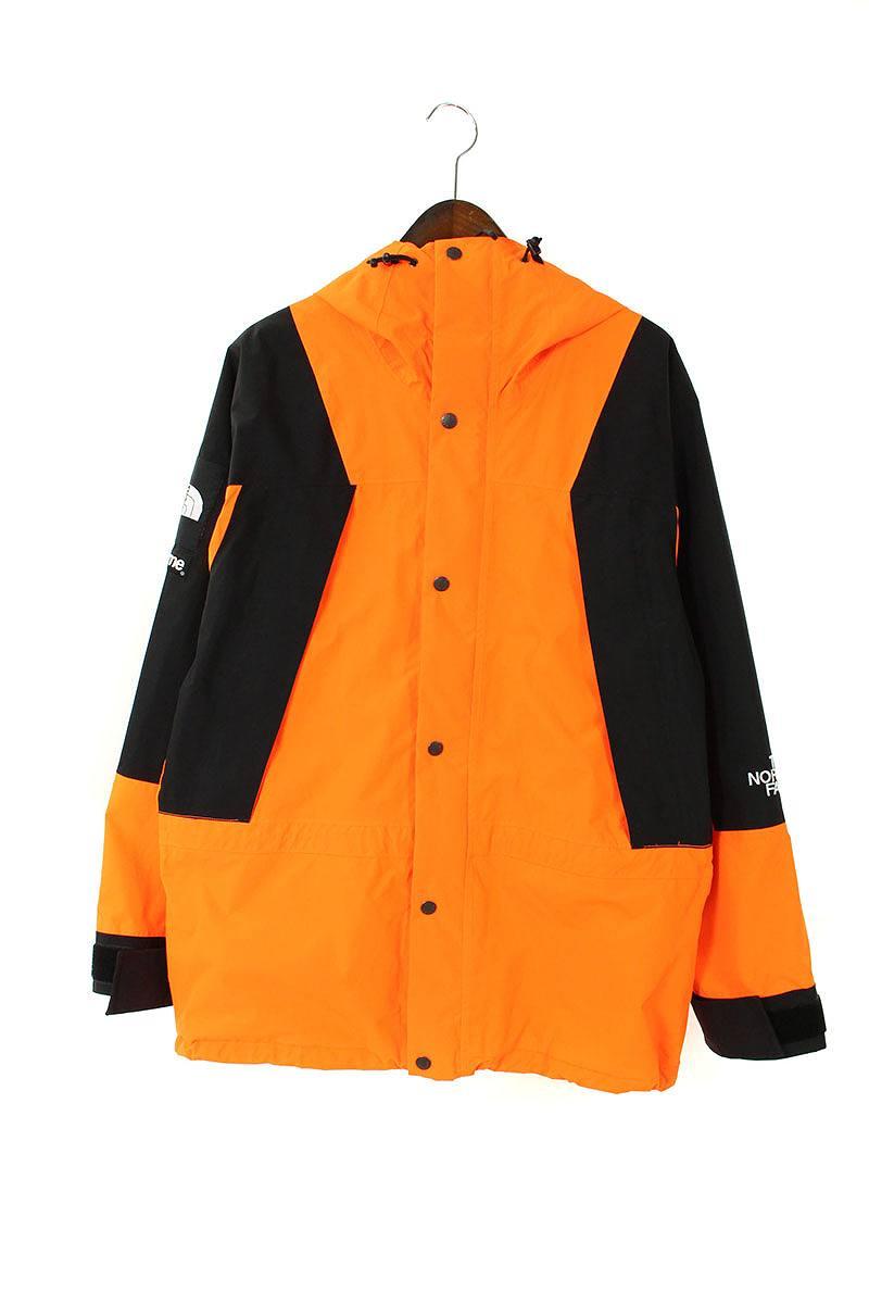 シュプリーム/SUPREME ×ノースフェイス/THE NORTH FACE【16AW】【Mountain Light Jacket】パワーオレンジマウンテンジャケット(M/オレンジ×ブラック)【OM10】【メンズ】【511091】【中古】bb212#rinkan*B