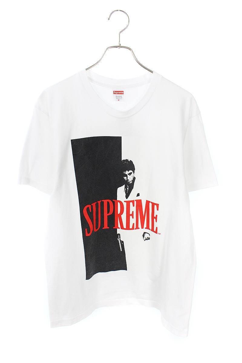 シュプリーム/SUPREME 【17AW】【Scarface Split Tee】スカーフェイスプリントTシャツ(M/ホワイト)【SJ02】【メンズ】【416091】【中古】bb170#rinkan*A