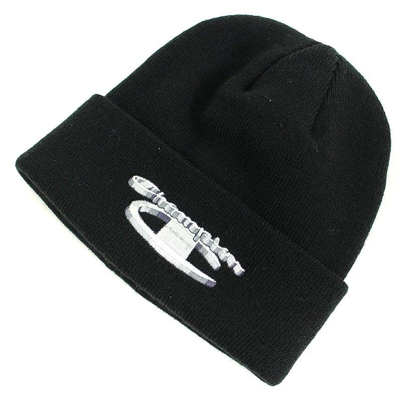 80e3fb512e5 チャンピオン Champion  18AW  3D METALLIC BEANIE ×CHAMPIONダブルネームニット帽