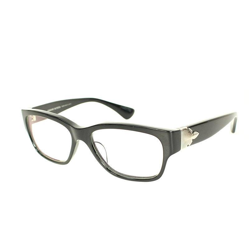クロムハーツ/Chrome Hearts 【HAPPY VALLEY-A】フレアニーモチーフ眼鏡(54□17/(フレーム)ブラック×シルバー)【SJ02】【小物】【102091】【中古】bb13#rinkan*B