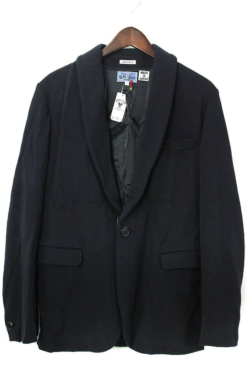 ブルーブルー/BLUEBLUE 【ARIGATO】1Bシルク混テーラードジャケット(3/ネイビー)【BS99】【メンズ】【702091】【中古】bb18#rinkan*S