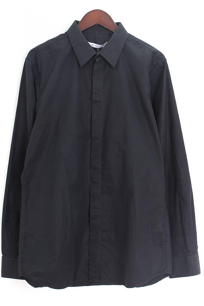 ジバンシィ/GIVENCHY 【17SS】スターバッチ装飾比翼シャツ(41/ブラック)【BS99】【メンズ】【602091】【中古】bb14#rinkan*B