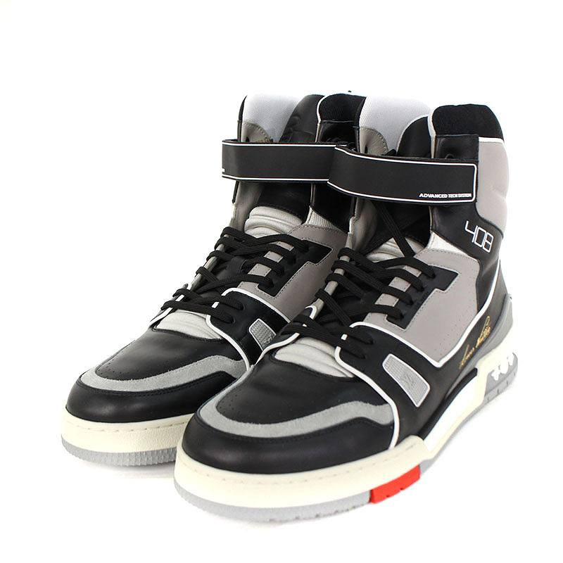 ed7934780582  19SS   LV sweat shirt line sneakers  higher frequency elimination leather  sneakers