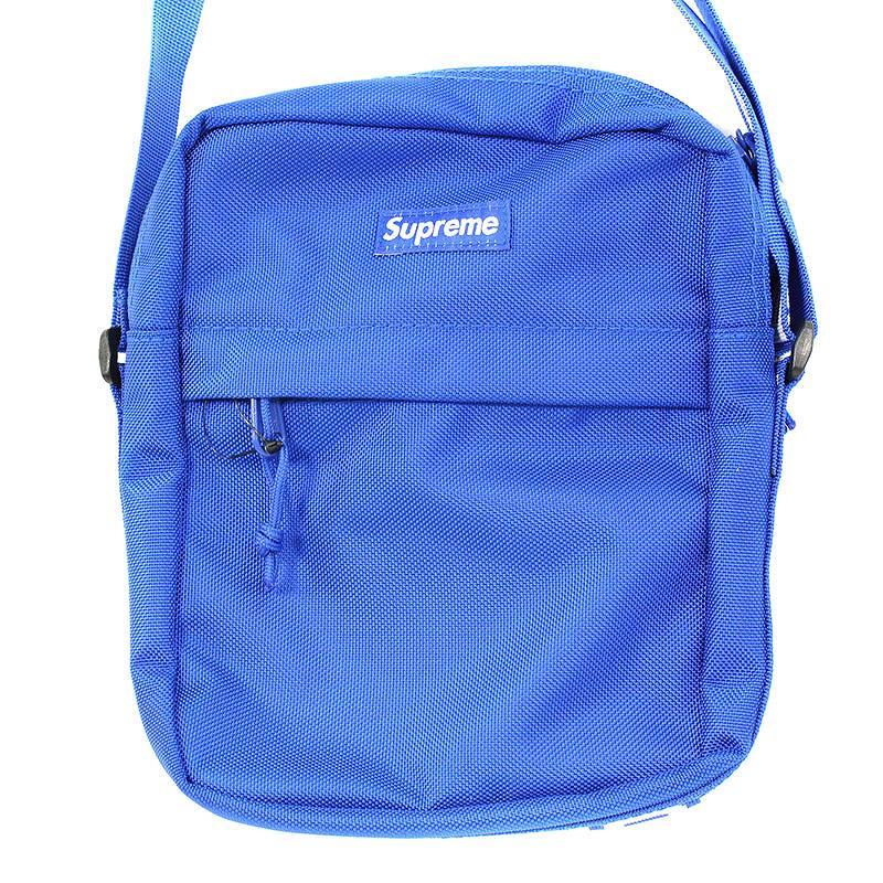 シュプリーム/SUPREME 【18SS】【Shoulder Bag】ボックスロゴナイロンショルダーバッグ(ブルー)【OM10】【小物】【312091】【中古】bb205#rinkan*S