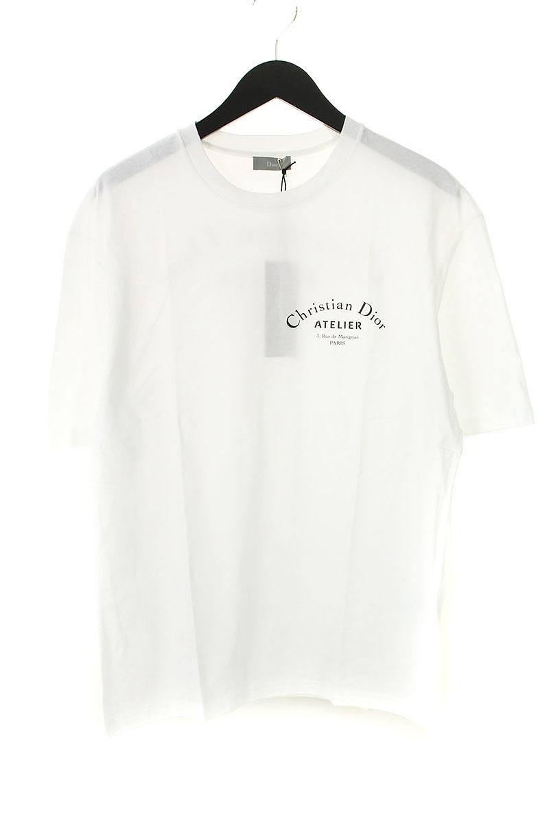 factory price e08b0 44ec3 ディオールオム/Dior HOMME  【19SS】【863J621I2712】アトリエロゴプリントTシャツ(S/ホワイト)【SB01】【メンズ】【412091】【新古品】bb78#rinkan*N|RINKAN