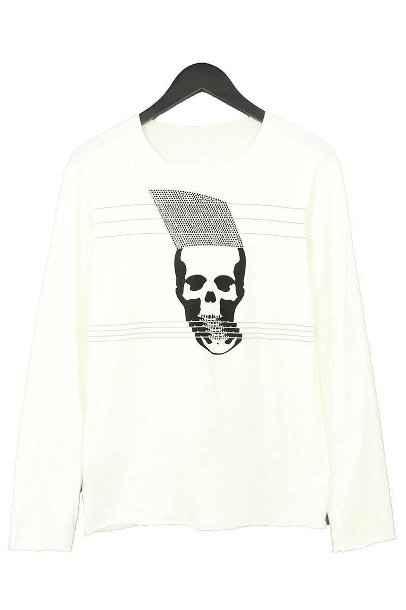 ルシアンペラフィネ/lucien pellat-finet スワロ装飾ボーダースカル長袖カットソー(S/ホワイト×ブラック)【BS99】【メンズ】【812091】【中古】【準新入荷】bb229#rinkan*B