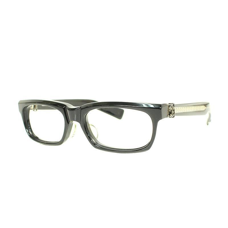 クロムハーツ/Chrome Hearts 【SPLAT】BSフレアテンプルウェリントン型眼鏡((フレーム)ブラック×シルバー)【SS07】【小物】【103091】【中古】bb134#rinkan*B