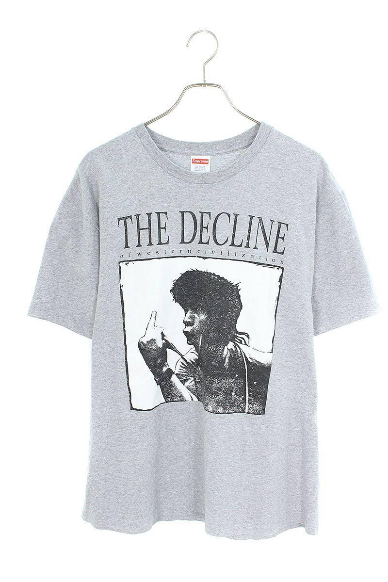 シュプリーム/SUPREME 【17AW】【Decline of Western Civilization Tee】アートワークプリントTシャツ(M/グレー)【BS99】【メンズ】【416091】【中古】[10倍]bb51#rinkan*A