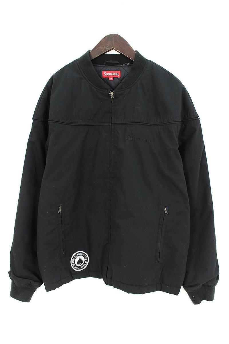 シュプリーム/SUPREME ×スラッシャー/THRASHER 【17SS】【Poplin Crew Jacket】バックフォント刺繍ジャケット(M/ブラック)【BS99】【メンズ】【722091】【中古】[less]bb212#rinkan*B