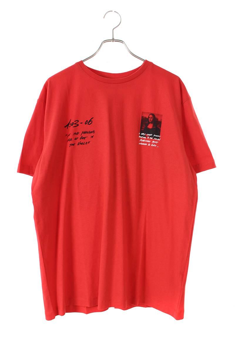 オフホワイト/OFF-WHITE 【19SS】【MONALISA S/S OVER TEE】モナリザプリントオーバーサイズTシャツ(S/レッド)【HJ12】【メンズ】【303091】【新古品】bb20#rinkan*N