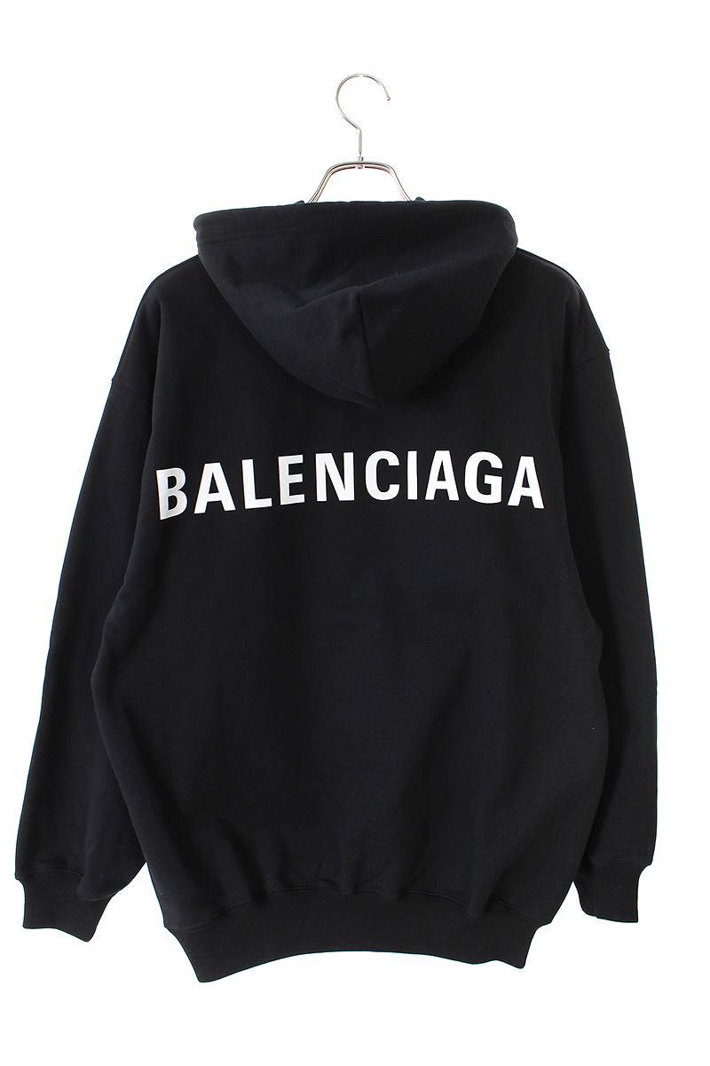 e05b206f バレンシアガ/BALENCIAGA【19SS】【556113TAV37】バックロゴプルオーバーパーカー(XS ...