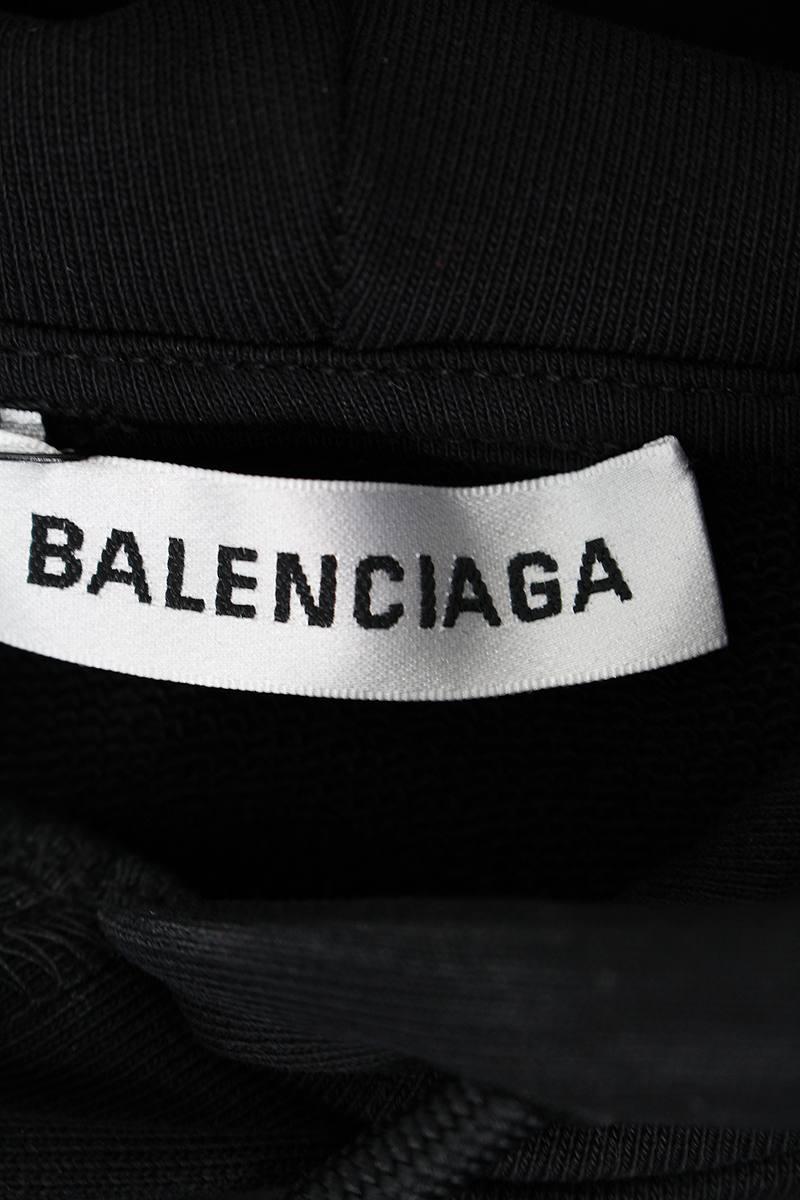 380deae9 ... バレンシアガ/BALENCIAGA【19SS】【556113TAV37】バックロゴプルオーバーパーカー(XS ...