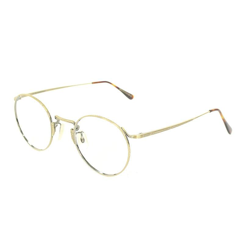 オリバーゴールドスミス/OLIVER GOLDSMITH 【CHARLES 47】ラウンドフレーム眼鏡(ゴールド×ブラウン調)【BS99】【小物】【703091】【中古】bb177#rinkan*B