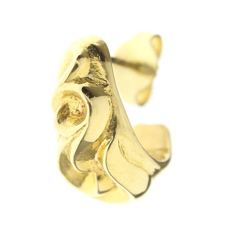 クロムハーツ/Chrome Hearts 【22K CARVED TEARDROP/22Kカーブドティアドロップ】ゴールドピアス(イエローゴールド/4.87g)【SS07】【小物】【203091】【中古】bb82#rinkan*B
