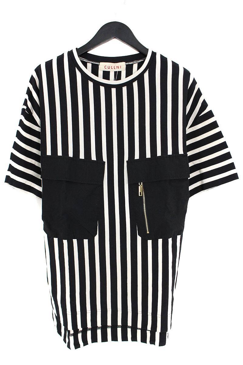 クルニ/CULLNI ストライプ柄Tシャツ(2/ブラック×ホワイト)【BS99】【メンズ】【903091】【中古】bb15#rinkan*B