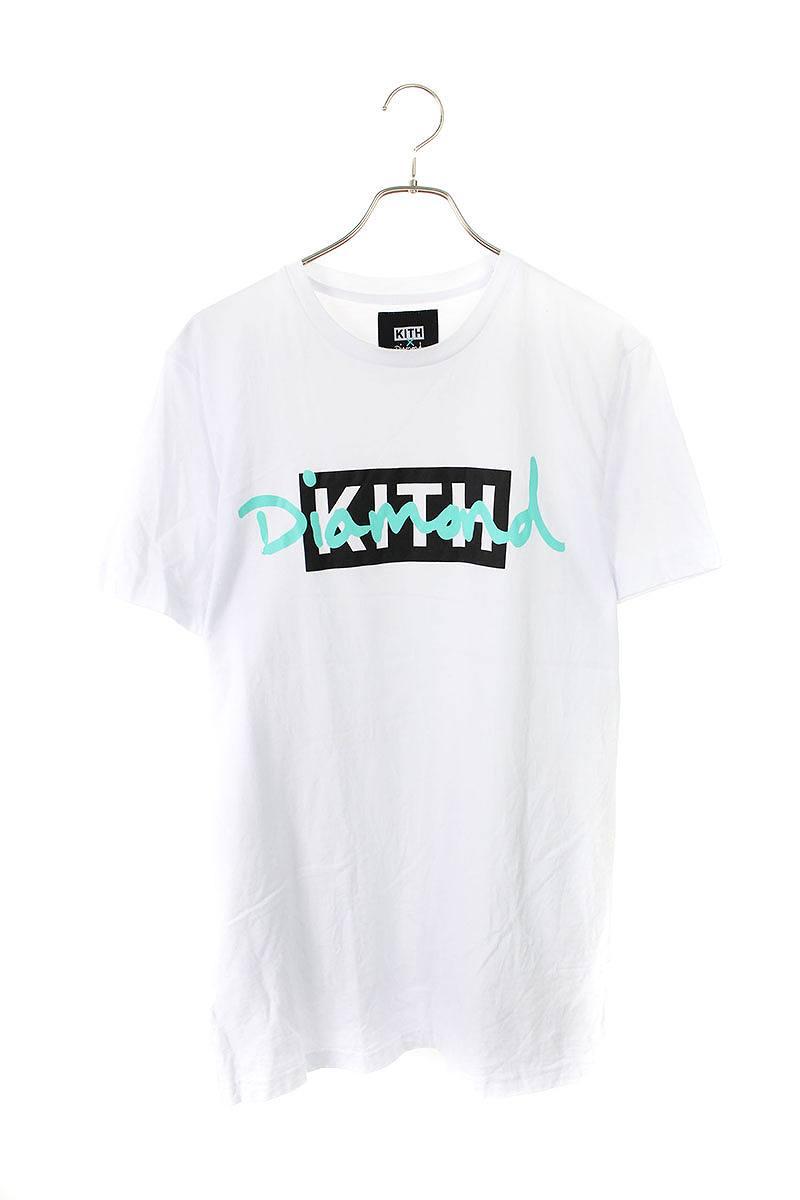 キス/KITH ×ダイヤモンドサプライ ボックスロゴDIAMONDプリントTシャツ(L/ホワイト)【NO05】【メンズ】【603091】【中古】bb14#rinkan*B