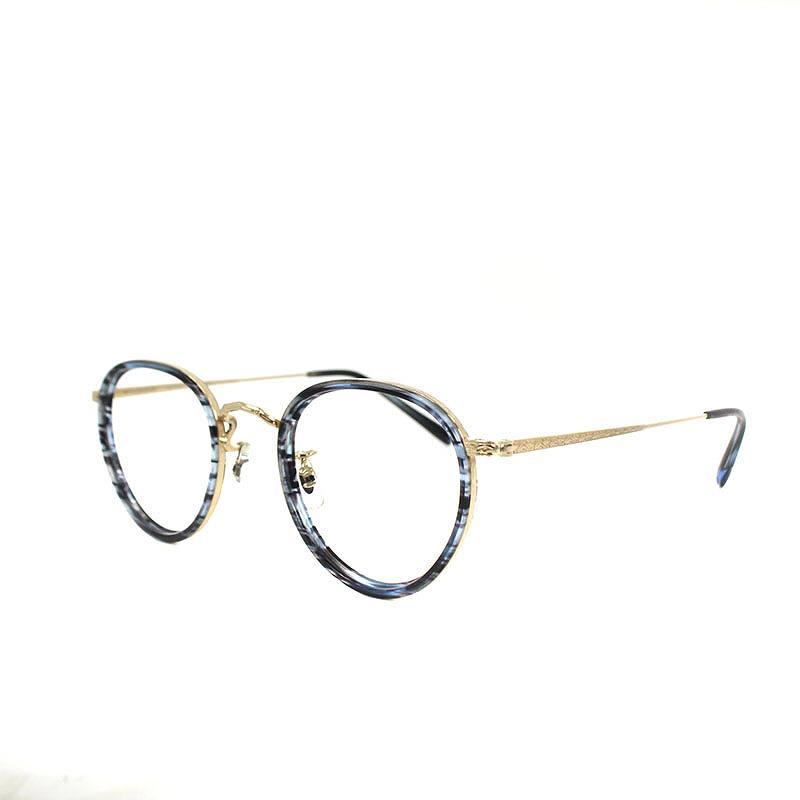 オリバーピープルズ/OLIVER PEOPLES 【Limited Edition】MP-2 ボストン型眼鏡(46/(フレーム)ブルー調×ゴールド)【BS99】【小物】【104091】【中古】bb93#rinkan*B