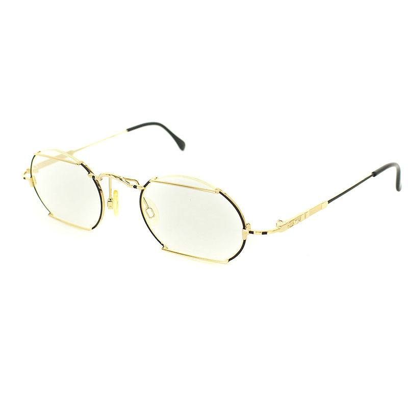 カザール/CAZAL 【MOD781】ヴィンテージゴールドフレーム眼鏡(46□23/ゴールド)【BS99】【小物】【923091】【中古】bb15#rinkan*B