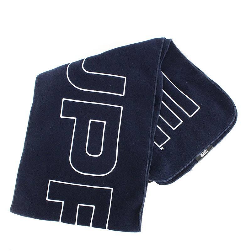 シュプリーム/SUPREME 【17AW】【Polartec Logo Scarf】ポーラテックロゴ刺繍マフラー(ネイビー)【SB01】【小物】【603091】【中古】bb295#rinkan*S