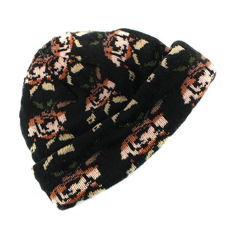 ae0fdeca7d1 シュプリーム  SUPREME Rose jacquard beanie knit cap (Bordeaux-like) bb32 rinkan B