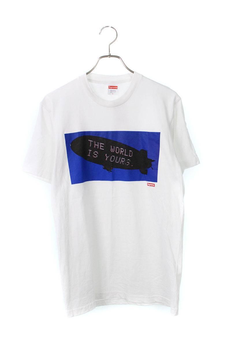 シュプリーム/SUPREME 【17AW】【Blimp Tee】×Scarface フロントプリントTシャツ(S/ホワイト)【FK04】【メンズ】【515091】【中古】bb82#rinkan*B