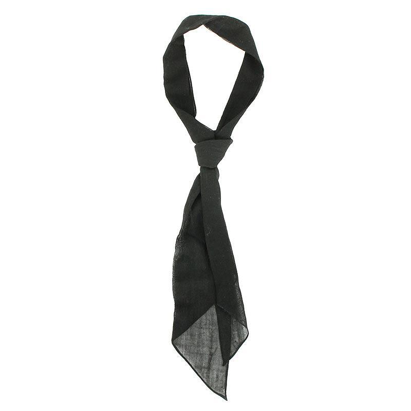 サンローランパリ/SAINT LAURENT PARIS ラヴァリエクラヴァットタイスカーフ(ブラック)【SB01】【小物】【213091】【中古】bb87#rinkan*B