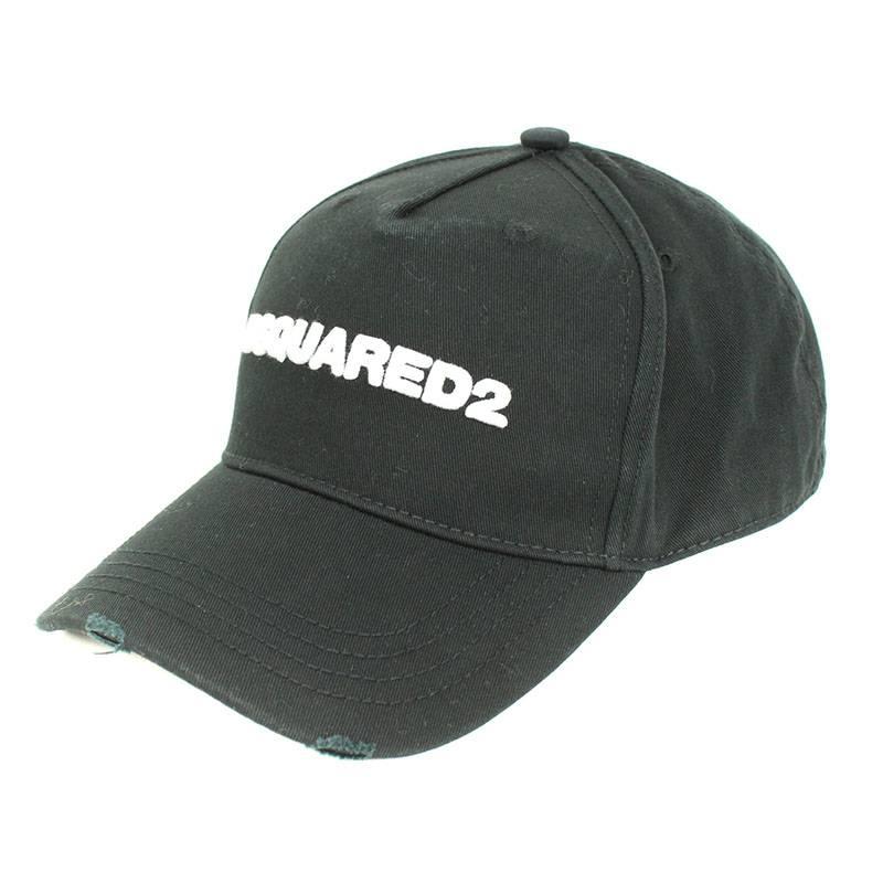 ディースクエアード/DSQUARED2 ロゴ刺繍ベースボールキャップ(ブラック)【BS99】【小物】【104091】【中古】bb14#rinkan*A