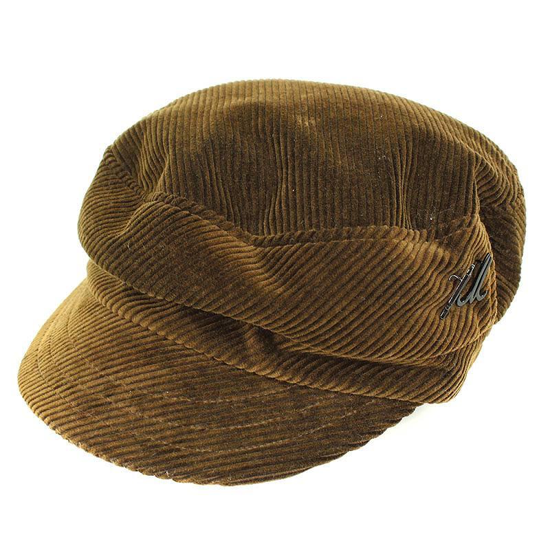 ヒューマンメイド/HUMAN MADE ×ミュールバウアー/Muhlbauer 【MUHLBAUER CAP CORDUROY】ピン付きコーデュロイキャップ帽子(ブラウン)【BS99】【小物】【114091】【中古】bb51#rinkan*A