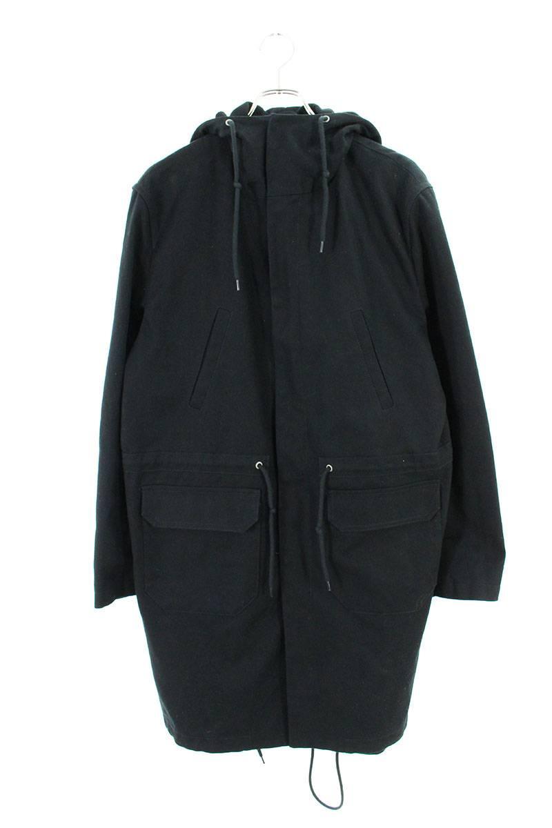ラフシモンズ/RAF SIMONS 【18SS】【Replicants Hooded Jacket 709-10090】オーバーサイズレプリキャンツ フーデッドコート(48/ブラック調)【SB01】【メンズ】【423091】【中古】[less]bb294#rinkan*C