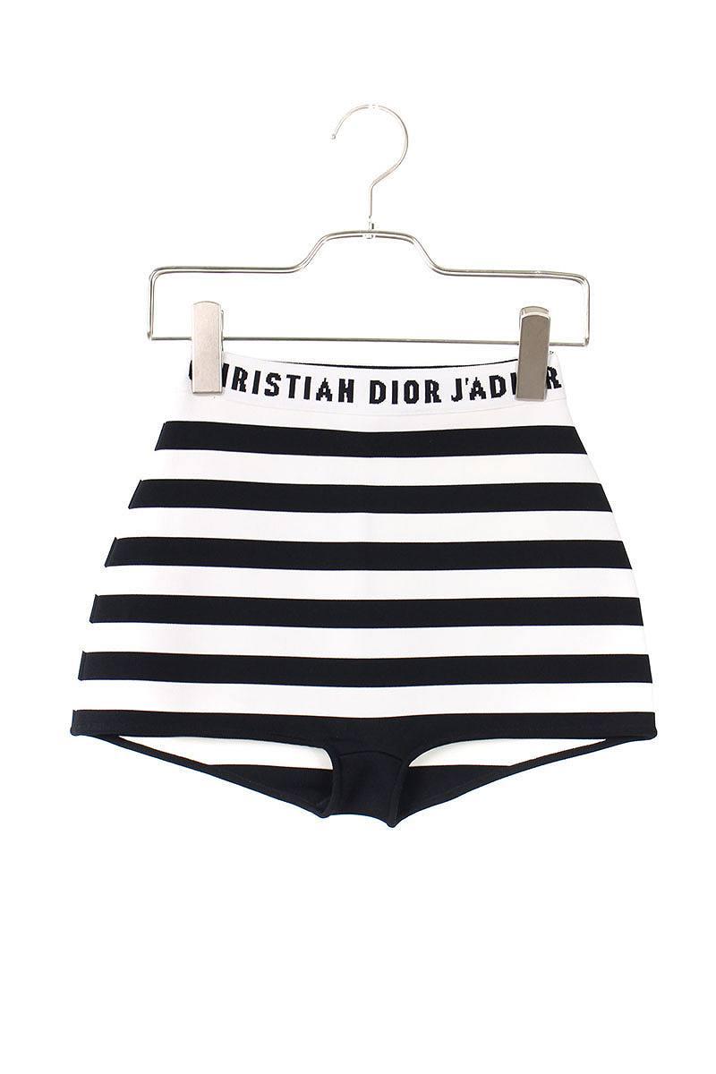 263a8a3fda35 Christian Dior  Christian Dior waist logo horizontal stripe shorts (XS   white X black) bb15 rinkan S