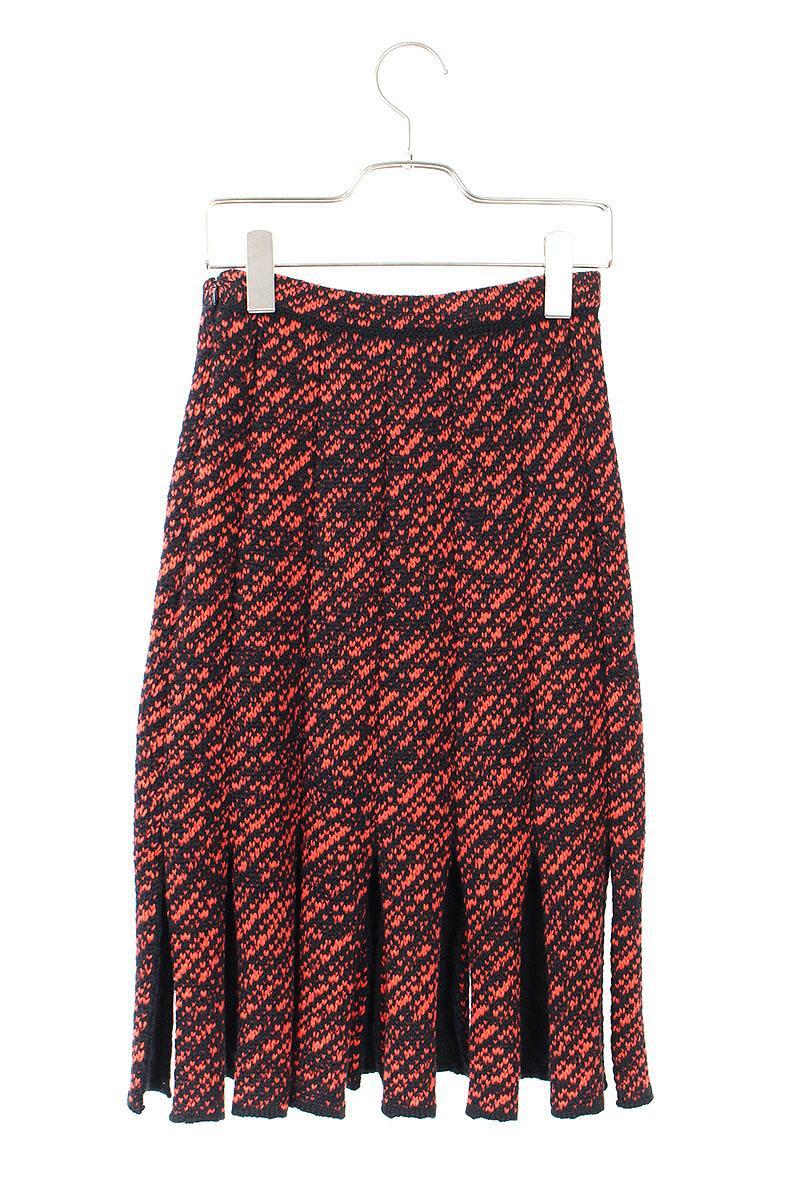 f26a1c05685c Christian Dior  Christian Dior knit fringe skirt (36  black X red) bb15  rinkan B