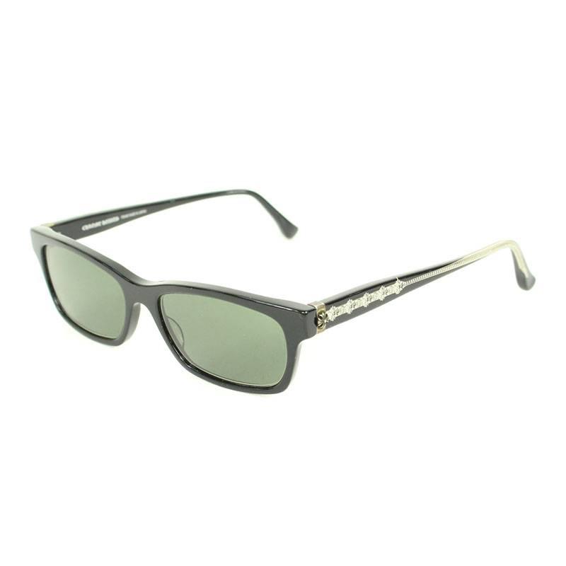 クロムハーツ/Chrome Hearts 【DROP BOX】CHプラステンプルウェリントン眼鏡((フレーム)ブラック)【NO05】【小物】【104091】【中古】bb81#rinkan*B