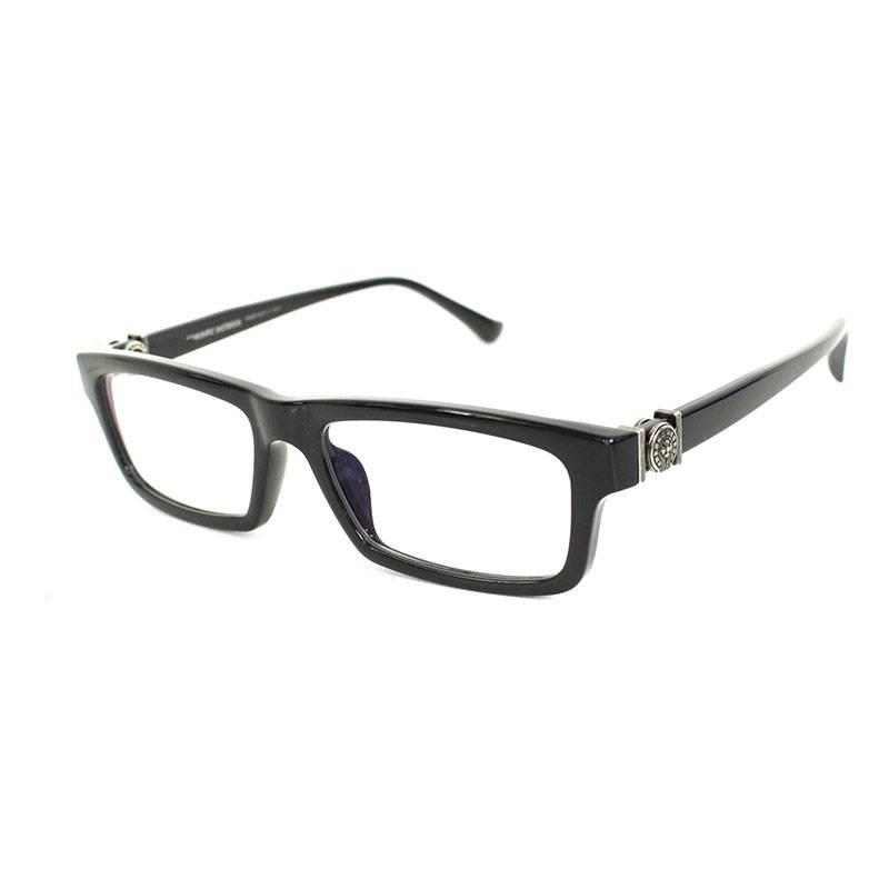 クロムハーツ/Chrome Hearts 【BEEF TOMATO】アーチロゴテンプルスクエア眼鏡(ブラック)【SS07】【小物】【033091】【中古】bb177#rinkan*B