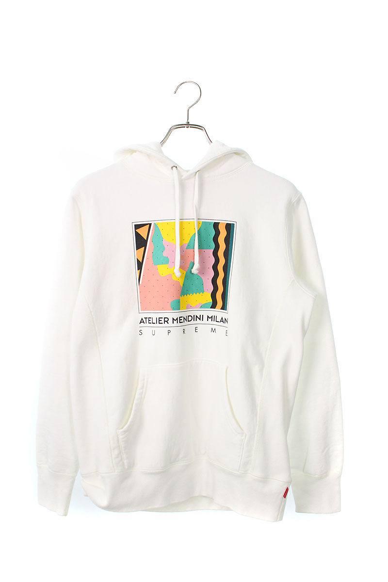 シュプリーム/SUPREME 【16SS】【Mendini Hooded Sweatshirt】メンディーニフーデッドパーカー(S/ホワイト)【SB01】【メンズ】【014091】【中古】bb51#rinkan*B