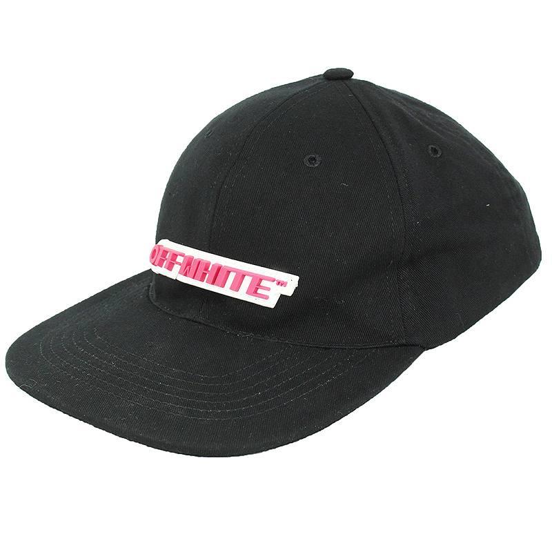 オフホワイト/OFF-WHITE 【18SS】【TEMPERATURE CAP】ラバーロゴパッチキャップ(O/S/ブラック)【SB01】【小物】【114091】【中古】bb162#rinkan*B