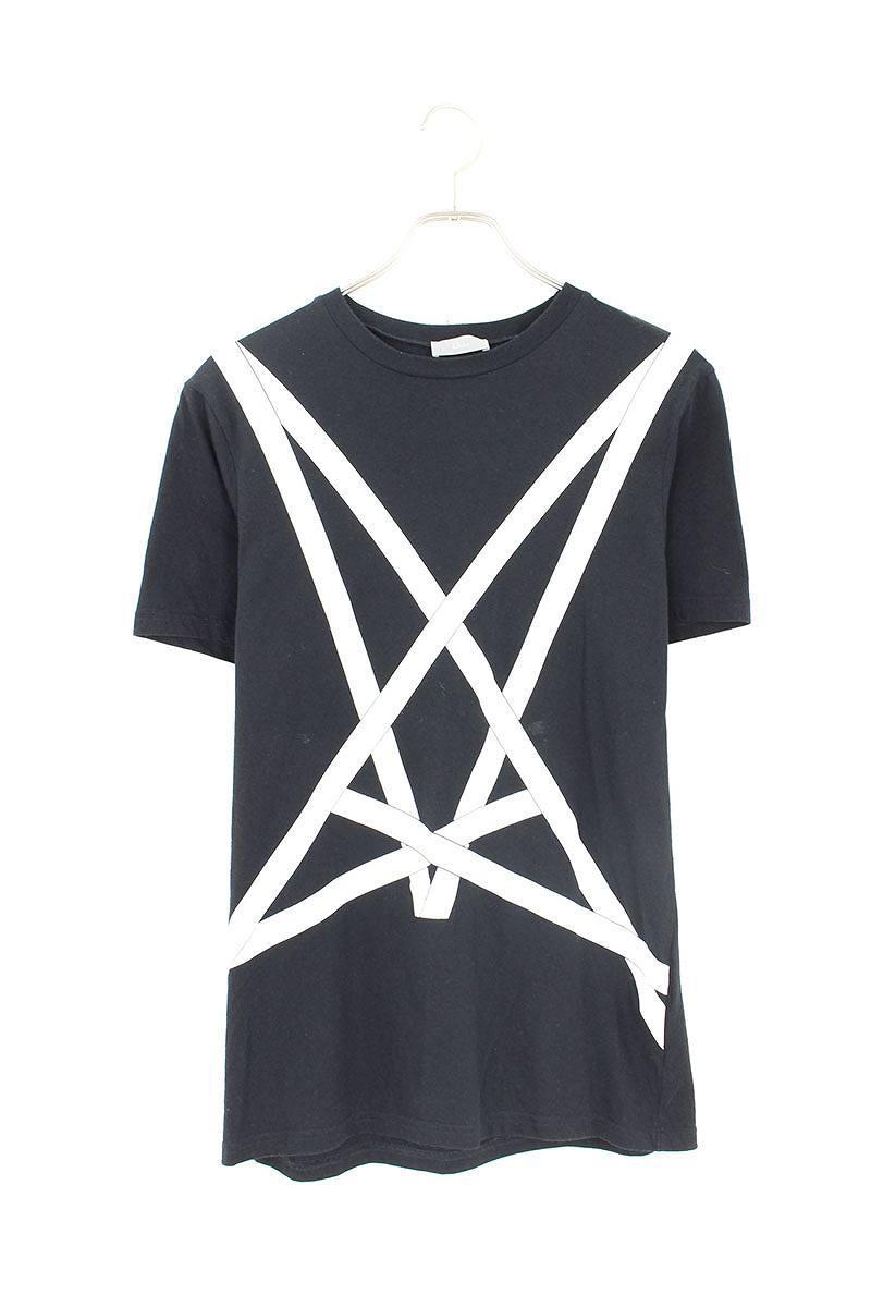 new product 4cc74 d2e1e ディオールオム/Dior HOMME  【16AW】【633J654I0211】ラインデザインTシャツ(XS/ブラック×ホワイト)【SB01】【メンズ】【514091】【中古】bb187#rinkan*B|RINKAN