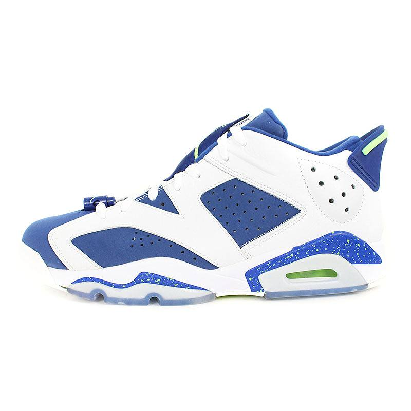 finest selection eb597 9a48f Nike /NIKE Air Jordan 6 nostalgic low ghost green sneakers (28cm/ white X  blue) bb131#rinkan*S