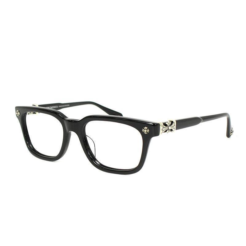 クロムハーツ Chrome HeartsCOX UCKER クロスモチーフ眼鏡 ブラック×シルバーSS07小物914091 bb134 rinkan A0mNv8nw