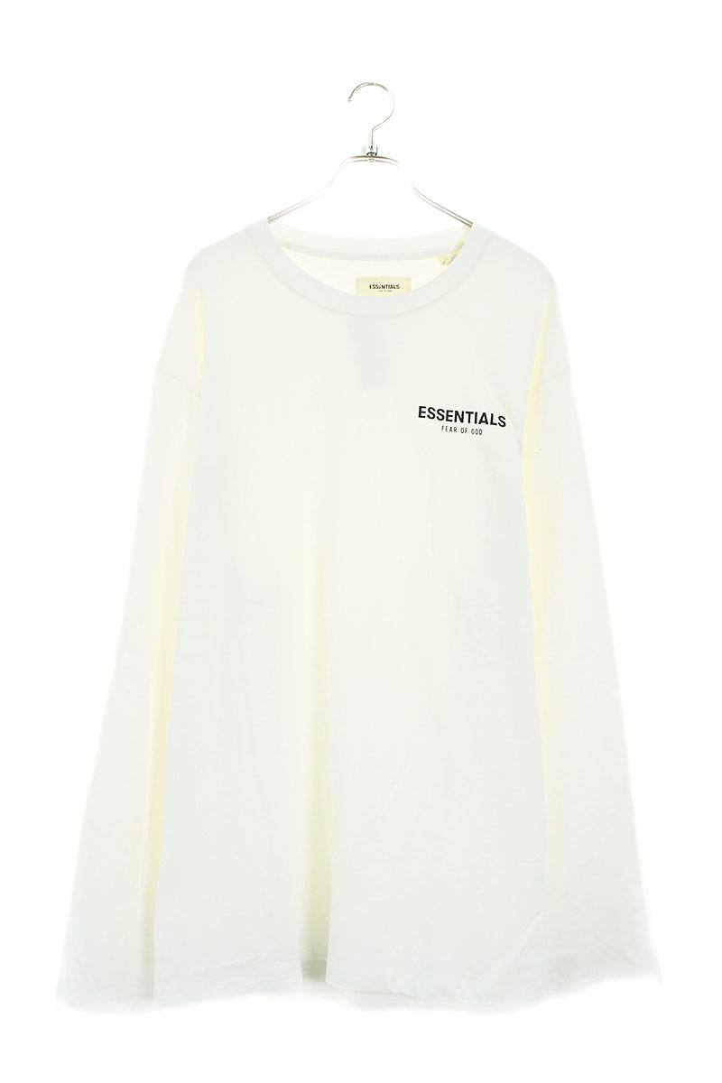 フォグ/FOG 【19SS】【Essentials Boxy Logo Long Sleeve T-Shirt】フロントロゴプリント長袖カットソー(XL/ホワイト)【HJ12】【メンズ】【515091】【中古】bb99#rinkan*A