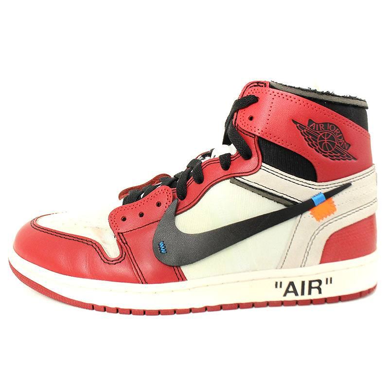 finest selection c3377 ef9d7 Nike off-white /NIKE OFF-WHITE Air Jordan 1 sneakers (27cm/ red X white)  bb35#rinkan*B