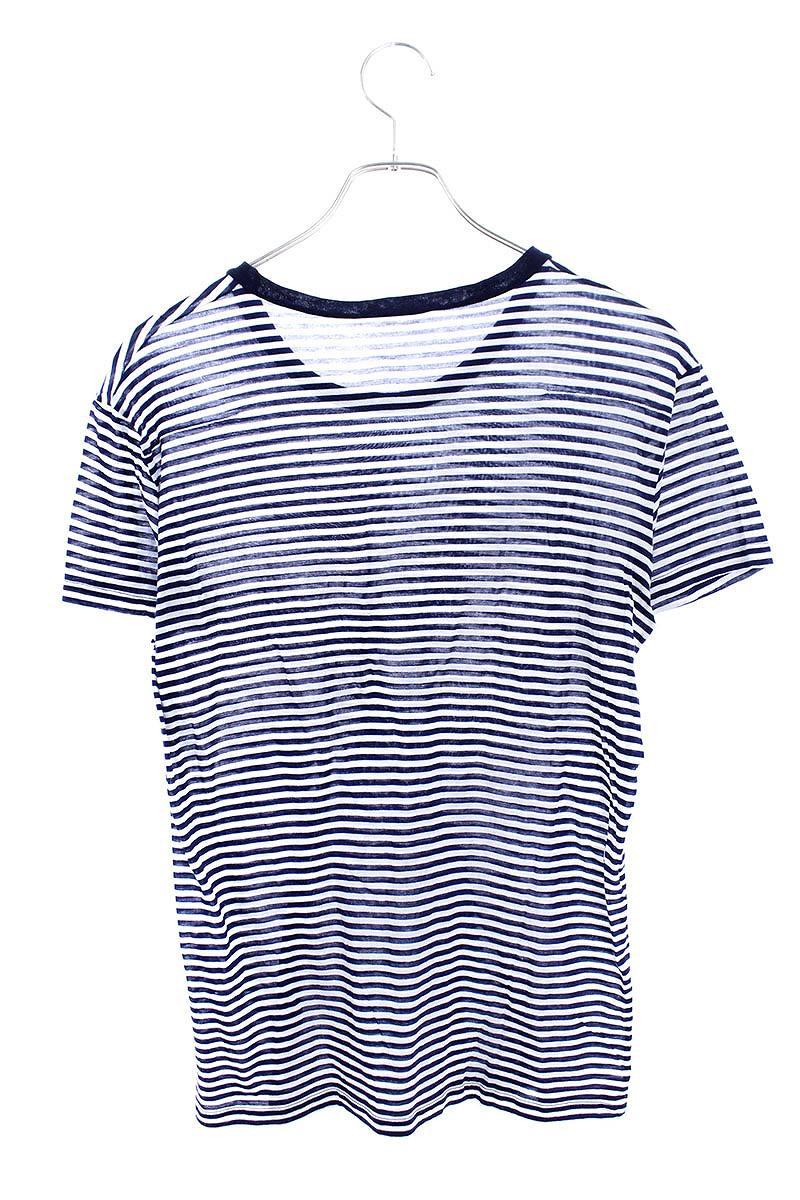 online store 08beb a60da ディオールオム/Dior HOMME  【09SS】BEE刺繍ボーダーTシャツ(XS/ブルー×ホワイト)【SB01】【メンズ】【116091】【中古】bb30#rinkan*B RINKAN