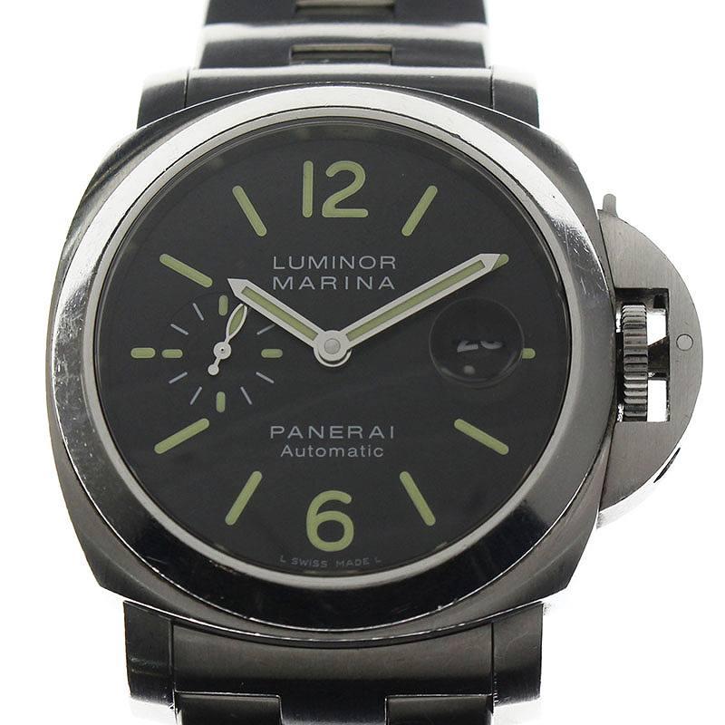 パネライ/PANERAI 【PAM00299 LUMINOR MARINA 44】ルミノールマリーナ腕時計(44mm/シルバー)【SJ02】【小物】【626091】【中古】bb23#rinkan*C