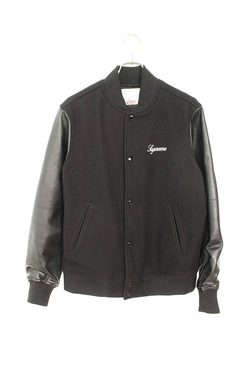 シュプリーム/SUPREME 【15AW】【Wool Varsity Jacket】バックロゴウールバーシティスタジャンブルゾン(M/ブラック)【SB01】【メンズ】【421191】【中古】bb17#rinkan*B