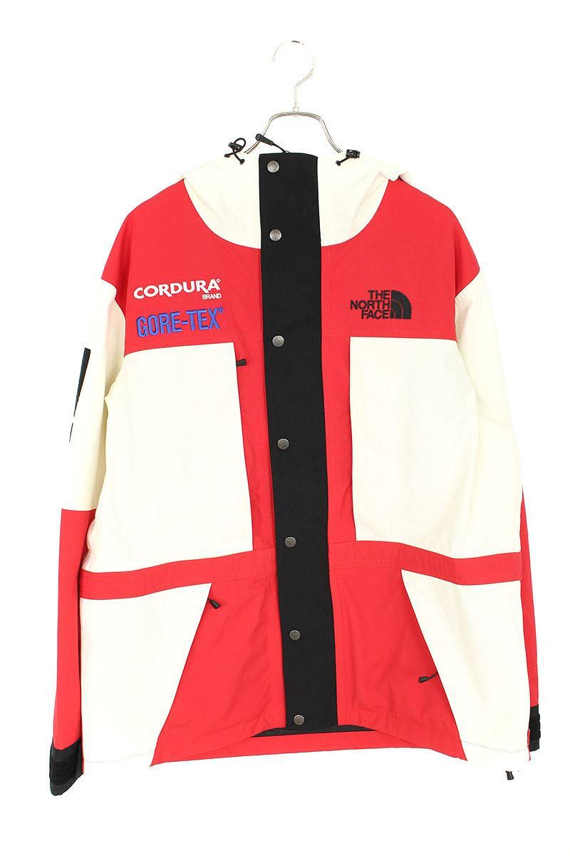 シュプリーム/SUPREME ×ノースフェイス/THE NORTH FACE 【18AW】【The North Expedition Jacket】マウンテンパーカージャケット(XL/ホワイト×レッド)【HJ12】【メンズ】【108091】【中古】bb63#rinkan*S